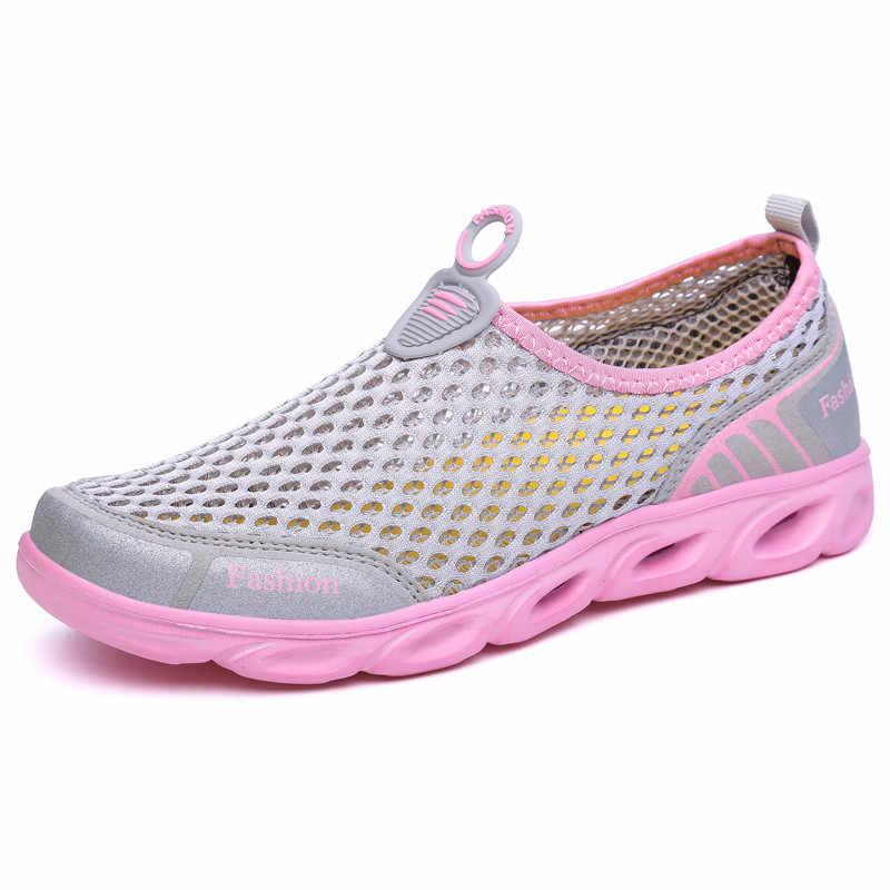 Мужская и женская летняя обувь из сетчатого материала; Воздухопроницаемый светильник; удобная повседневная обувь для пар; Прогулочные кроссовки; размеры 36-45