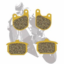 Motorcycle Disc Semi-Metallic Brake Pads Front & Rear For HARLEY FXE FXR 1340 Super Glide 1982 1983 FXS 1340 Low Rider 1982 motorcycle disc semi metallic brake pads front