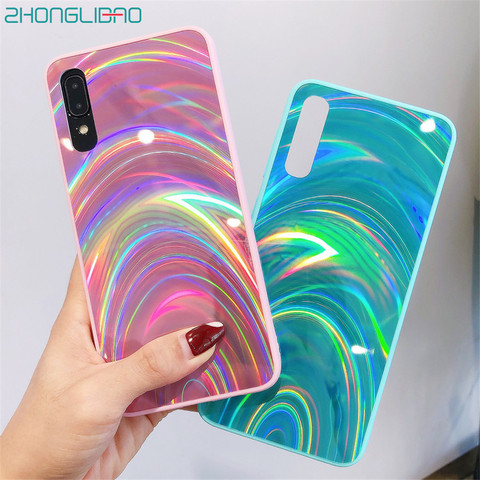 Glitter 3D Rainbow Mirror Soft Case Cover for Samsung Galaxy A50 A30 A70 A20 A10 M10 S8 S9 S10 Plus A9 A6 A7 2018 Note 8 9 10 + Pakistan