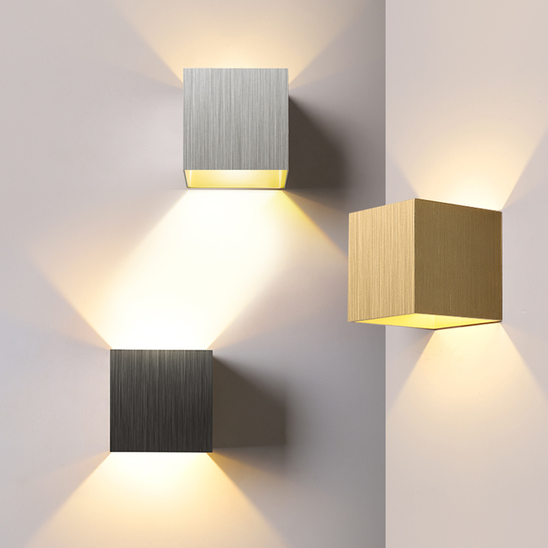 Adjustable Wall Lamp Bedside Aluminum Wall Light Surface Mounted Cube LED Garden Porch Light Waterproof Indoor & Outdoor Lights