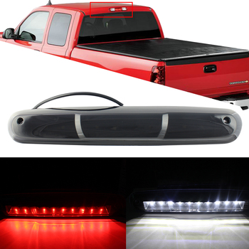 for Chevy Silverado GMC Sierra 2007-2013 Thrid 3rd Brake Light Assembly High Mount 12v LED Stop Led Light Taillight Smoke Clear