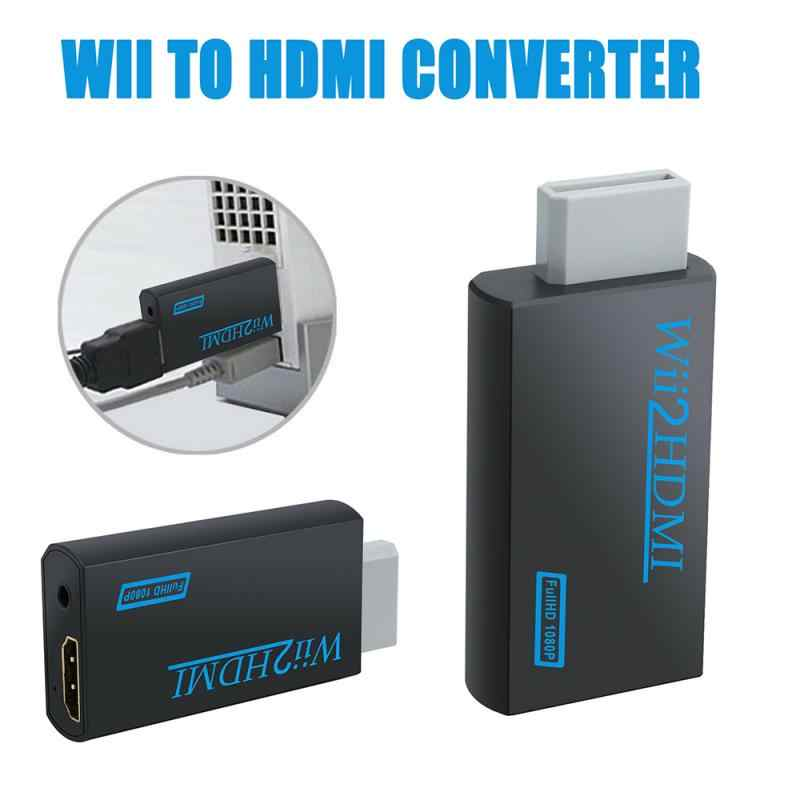 Untuk Wii untuk HDMI Scaler Adaptor HD Video Converter Box1080P Wii untuk HDMI Konverter 3.5 Mm Audio untuk PC HDTV monitor Display
