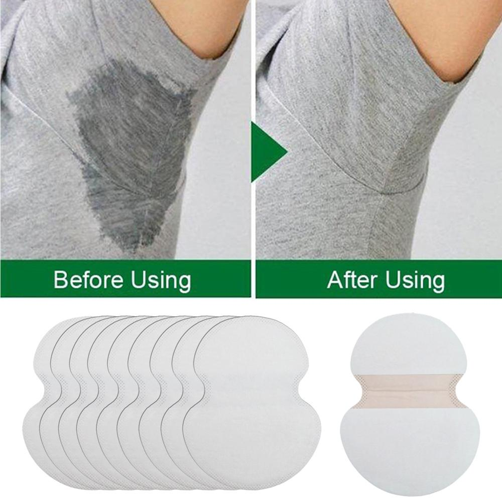 100pcs Summer Underarm Ultrathin Absorbent Pads Disposable Armpit Sweat Pad Anti Perspiration Body Cleaning Dry Pads Hot
