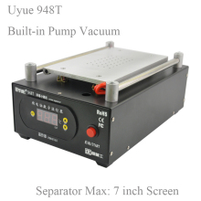 UYUE 948T Mobile phone repair machine Built-in Pump Vacuum Separator Machine for LCD Screen Max 7 inch,for phone display screen