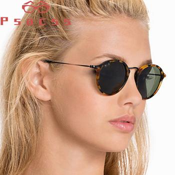 Psacss okulary przeciwsłoneczne damskie męskie 2019 Vintage okrągłe okulary przeciwsłoneczne wysokiej marka jakości okulary przeciwsłoneczne od projektanta lentes de sol hombre mujer UV400 tanie i dobre opinie WOMEN ALLOY ROUND Dla dorosłych ATEG2447 Żywica 58mm 51mm Sunglasses for Female Girl Women Lady Men male Stylish Comfortable And Not Easily Deformed