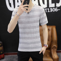 Wholesale solid color blank short sleeved T shirt advertising shirt custom cultural shirt class service group T shirt