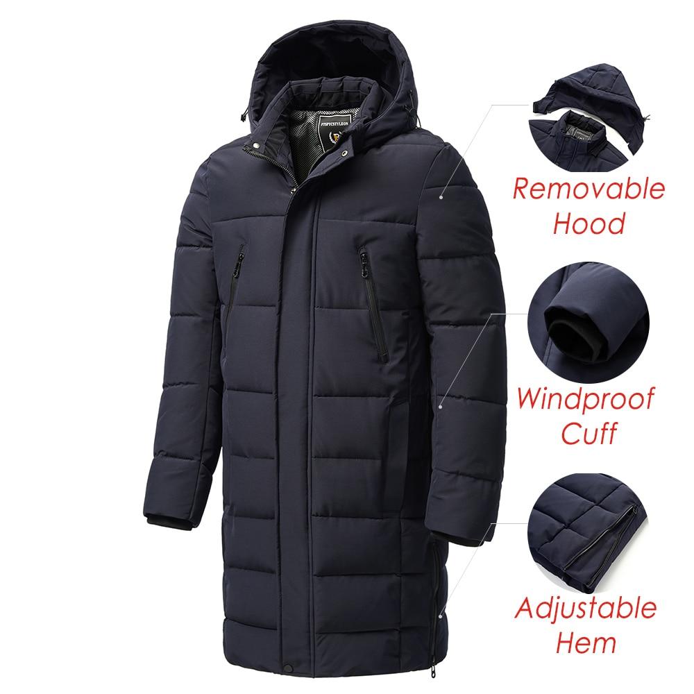 Parka classique coupe-vent à capuche épaisse pour homme, manteau Long, chaud, à poches, nouvelle collection automne hiver 2021