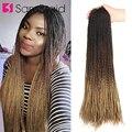 SAMBRAID 24 дюйма Сенегальские вьющиеся волосы для наращивания крючком синтетические Омбре цвета плетеные волосы для женщин коричневый