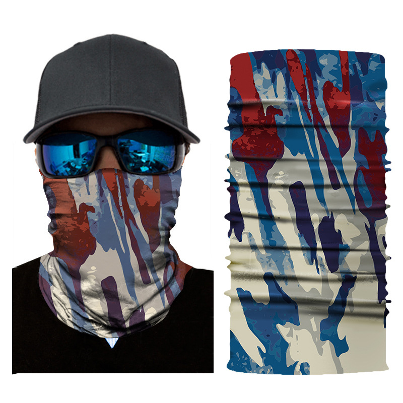 1pc Face Mask Camouflage Balaclava Head Cover Fishing Cycling Outdoor Face Mask Head Hair Band Hood Scarf Pirate Hat Wristbands