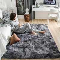 Пестрые плюшевые ковры для гостиной, мягкий пушистый ковер, домашний декор, мохнатый ковер для спальни, дивана, журнального столика, напольн...
