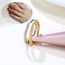 2 мм золотого цвета пескоструйное кольцо из нержавеющей стали