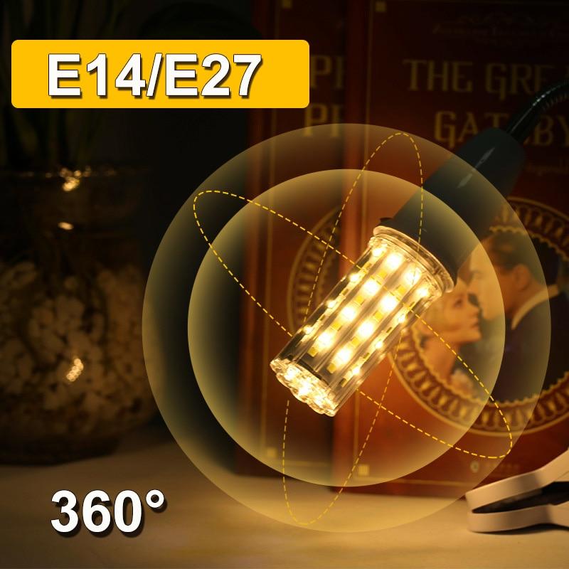 E27 Led Bulb E14 LED Lamp 220V Corn Bulb Bombillas Led 60 96LEDs for Home Living Room Chandelier Decoration Warm/Cold White