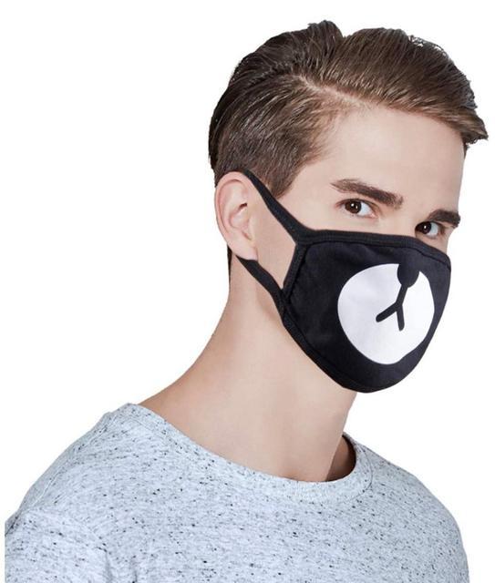 1PCS Hot Anti Dust Mask Cotton Mouth Mask Cute Anime Cartoon expression Mouth Muffle Face Mask Emoticon Masque Unisex Mask 3