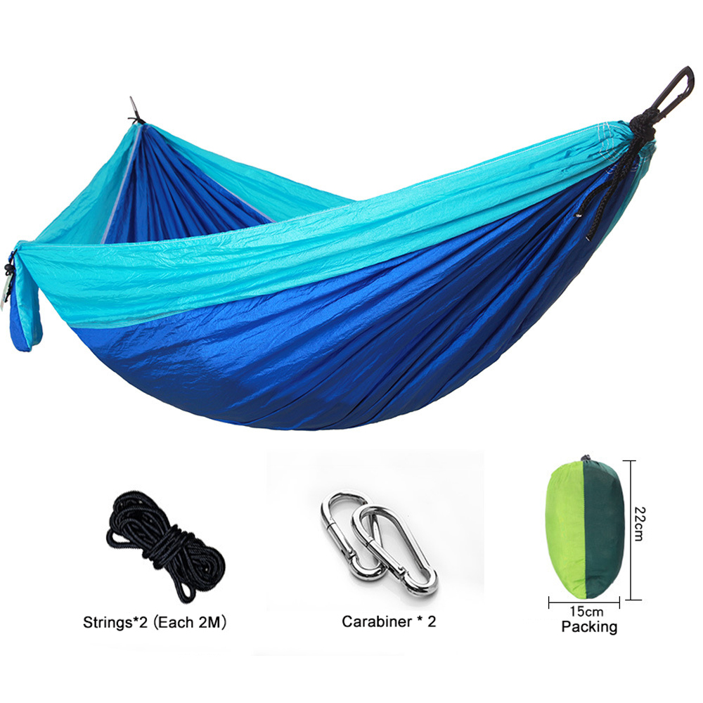 MYJ Double & Single Hammock Camping Straps Lightweight Nylon Hammocks Indoor Outdoor Backpacking Survival Travel