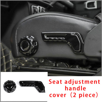 For Jeep Wrangler 2018-2020 carbon fiber Seat adjustment handle cover molding trim 2pcs