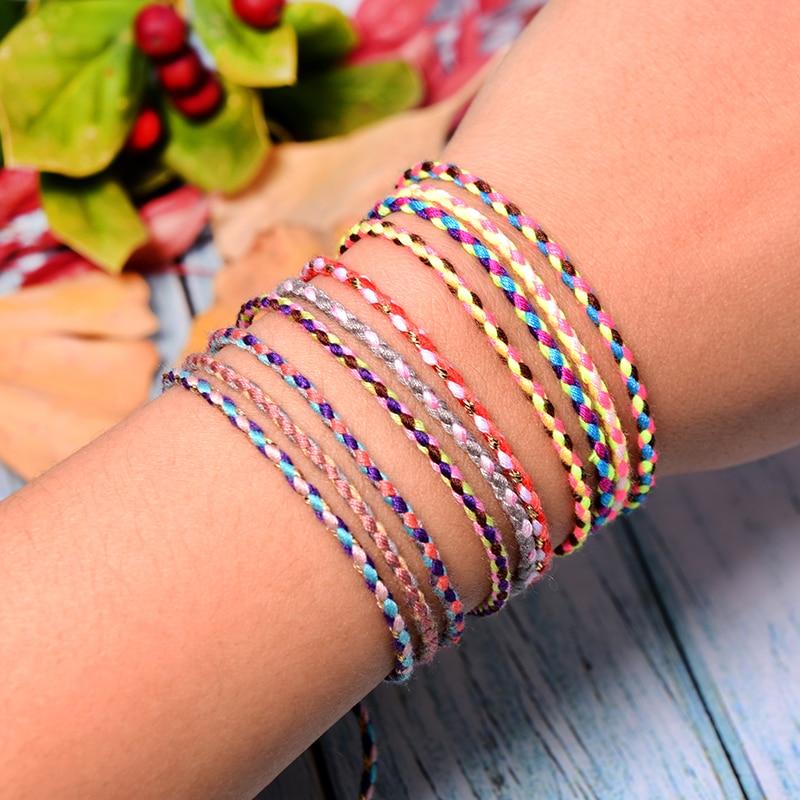 MOON GIRL 5Pcs Cotton Rope Friendship Bracelet for Women Fashion Boho Handmade Charm Wrap Pulseras Femme Armband Dropshipping
