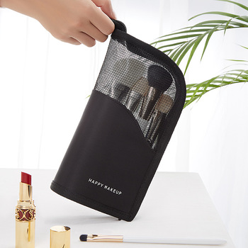 New Makeup Brushes pouch Portable mini trumpet Waterproof Travel Cosmetic Bag Organizer Female beauty Brush storage case 5