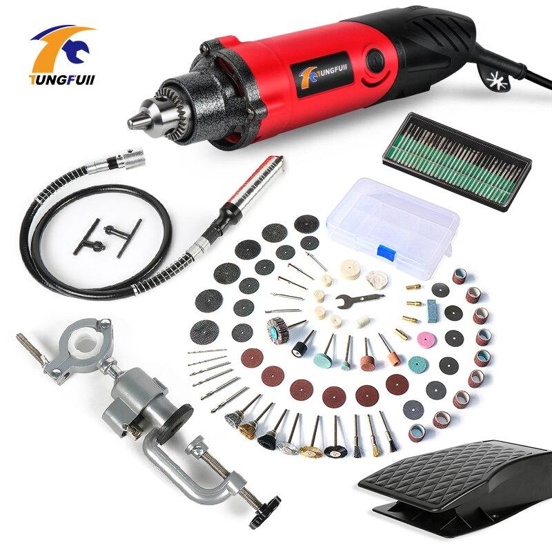 Mini taladro eléctrico de 240W con velocidad Variable de 6 posiciones herramientas rotatorias de estilo Dremel Mini herramientas eléctricas de molienda grabador de pluma DN25(G1.0