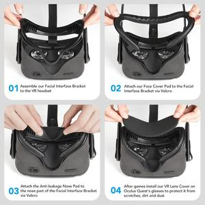 Image 4 - KIWI DESIGN replaced face Cover Set for Oculus Quest,  5in1 Oculus Quest accesses facial interface Bracket with lens cover