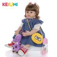 Lovely 60 cm Reborn Toddler Dolls 24 Inch Lifelike Princess Bebes Reborn Doll For Kids Children's Day Gifts Dolls