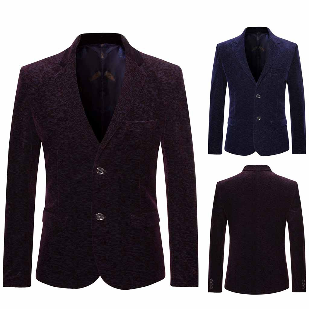 Low Price Loss Sale 2019 Men's New Style Turn-down Collar Long Sleeve Casual Suit Slim Fit Coat Jacket Drop Shipping Hot Sale
