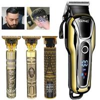 Kemei elektrische haar clipper Trimmer für männer rasierer LCD Display bart trimmer Haarschnitt maschine rasieren barber razor Haar cutter 5