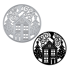 YaMinSanNiO Merry Christmas Tree Die House Metal Cutting Dies  for Card Making Scrapbooking Embossing Cut Stencil Craft New