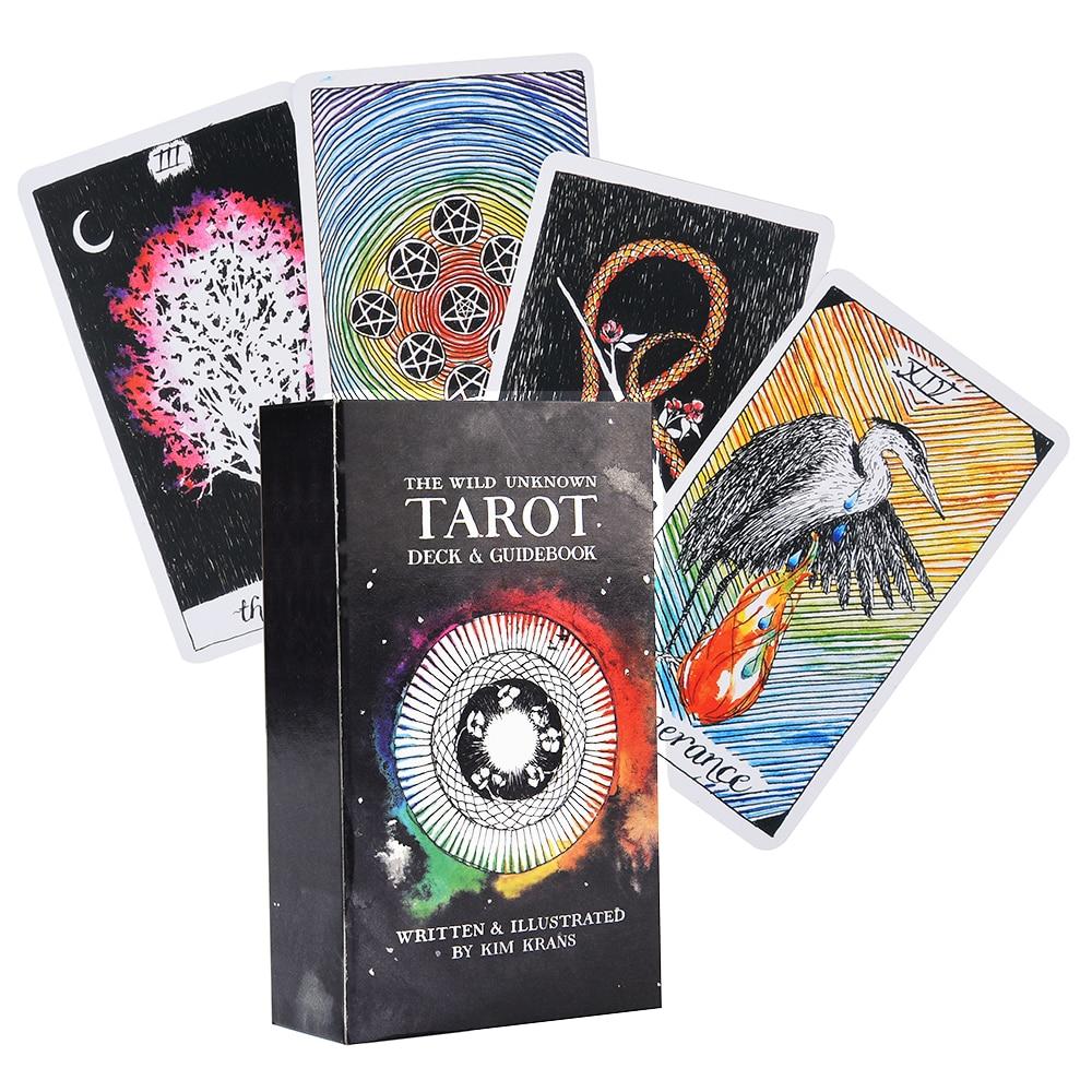 Дикая неизвестная колода Таро 78 полноцветных карт Таро и электронных карт-гидов, игровой набор игрушек «Нью-Йорк Таймс»