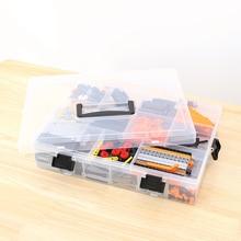 مكون منظم ضبط حبوب منع الحمل أداة حقيبة للتخزين قابل للتعديل شفاف صندوق تخزين من البلاستيك لبناء كتل اللعب ليغو