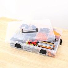 ส่วนประกอบ Organizer ปรับเม็ดเครื่องมือเก็บปรับโปร่งใสพลาสติกกล่องสำหรับบล็อกอาคาร LEGO ของเล่น