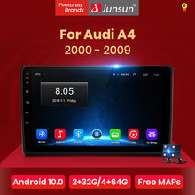 Junsun v1 android 10.0 dsp carplay rádio do carro multimídia player de vídeo estéreo automático gps para audi a4 b6 2000-2009 s4 rs4 2 din dvd