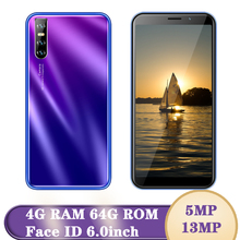 Global version 9X Android Mobile Phone 2SIM Quad Core 6 0 inch 5MP+13MP 4G RAM 64G ROM Face ID Unlocked Celulares Smartphones cheap BYLYND Detachable 64GB Face Recognition Up To 48 Hours 3200 Adaptive Fast Charge Smart Phones Bluetooth 5 0 Capacitive Screen