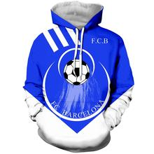 WFK Barcelona team sports shirt hoodie hoodie men's and women's universal hoodie cotton Barcelo new design ombre topstitched pocket design hoodie