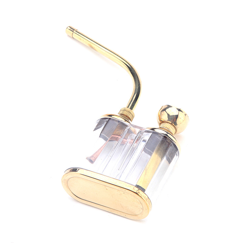 Textured Hookah Water Tobacco Smoking Pipe Bong With Double Filter Cigarette Holder Delicate and elegant Gold color 4