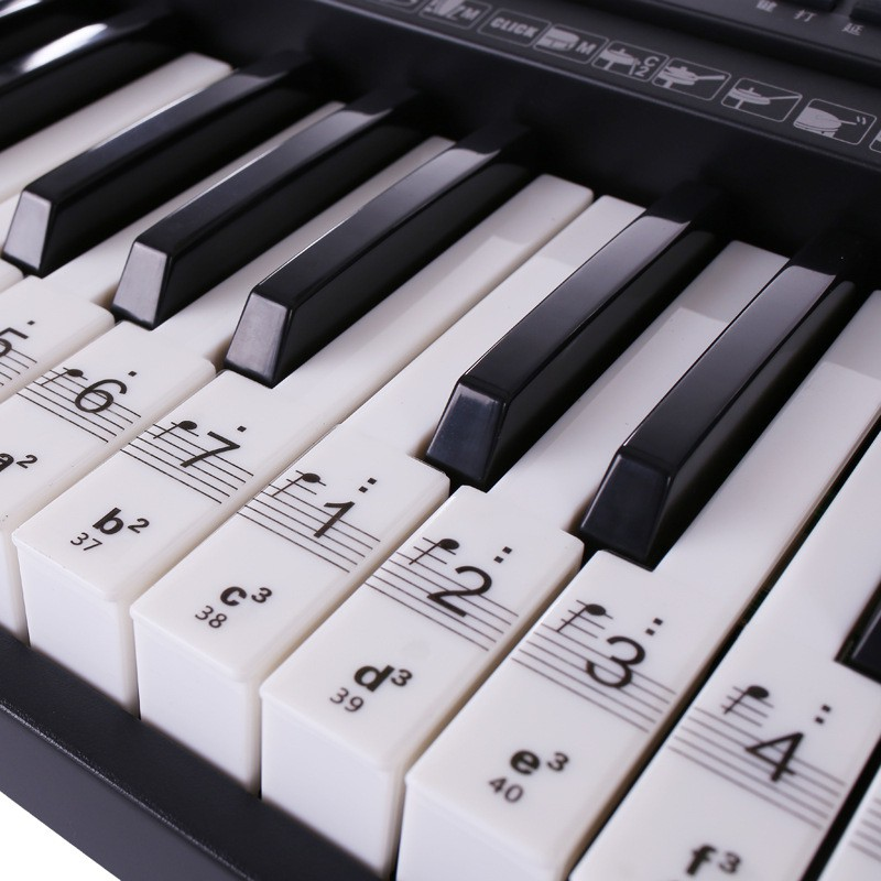 US $4 44 40% OFF|Transparent Piano Keyboard Sticker 54/61/88 Key Electronic  Keyboard Piano Sticker Key Piano Stave Note Sticker For White Keys on