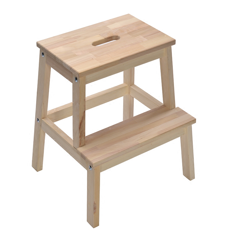 NEW 2 Layer  Step Stool Solid Wood Shoes Bench For Living Room Home Step Ladder Home Kitchen