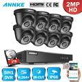 ANÃO 1080N CCTV Sistema de Câmera DVR 8pcs 2.0MP HD-TVI Preto À Prova D' Água Dome Câmeras de Vigilância De Vídeo Em Casa Kit de Detecção de Movimento