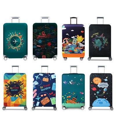 Elastic Luggage Dust Cover Travel Suitcase Protective Cover Luggage Case Apply To 18''-32'' Suitcase   Travel Accessories