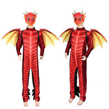 Halloween Carnival Children Dragon Mask Wings Suit COSPLY Party Ball(China)