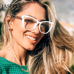 JASPEER Retro Cat Eye Glasses Frames Women Square Eye Glasses Frames Men Eyeglasses Optical Frames Customized Glassess Eyewear