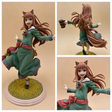 18cm Japanese anime the wolf and spices Holo PVC action figure anime girl 10th anniversary Holo doll collectible model toys gift(China)