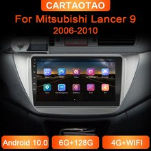 6g + 128g 2din jogador da navegação de gps do rádio do carro de android para mitsubishi lancer 9 lancer ix 2006-2010 jogador estereofônico de wifi dsp do carro
