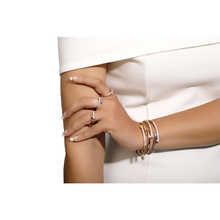 3A Zircon popular  Women's Ring Bracelet Set of 6 Zircon, Fashion, Rectangular rings bracelet Set sOpening and Closing bracelet