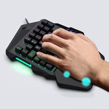 One-Handed Keyboard Portable Color Backlit One Hand Mechanical Gaming Keyboard 667C