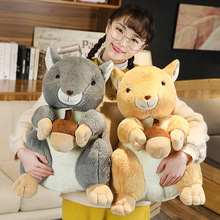 KUY New Kawaii Squirrel Doll Plush Animal Stuffed Dolls Soft Squirrel Plush Toys Cute Mouse Soft Dolls for Kids Birthday Gift new cute soft plush toys bear stuffed animal baby kids gift animals doll kawaii kids stuffed toys for children dolls travesseir
