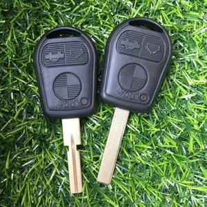 Image 5 - 3 przycisk obudowa pilota bez kluczyka dla BMW E39 E36 E31 E32 E38 wymiana inteligentny brelok Auto etui na klucze pokrywa Uncut Blade