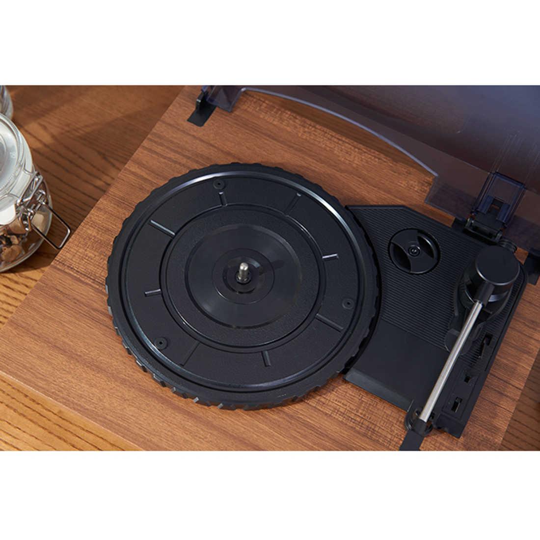 Мини Bluetooth динамик Виниловый проигрыватель переносной винтажный граммофон вертушки Прямая поставка-красный цвет