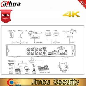 Image 3 - Dahua oryginalna wersja angielska 4K XVR5108HS 4KL X 8 kanał penta brid 4K kompaktowy 1U cyfrowy wideorejestrator kamera DVR HD CCTV