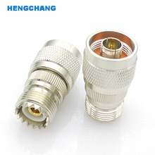 цена на SL16 UHF Female to N type Male M type to N type Coaxial RF Connector N-UHF RF Adapter 1pcs