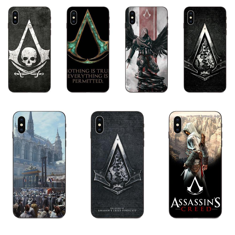 TPU Coque For Apple <font><b>iPhone</b></font> 4 4S 5 5S SE 6 6S 7 8 Plus <font><b>X</b></font> <font><b>XS</b></font> Max XR Asking Alexandris Skull Assassins Creed image